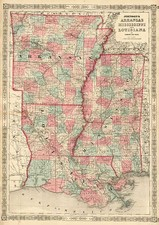 South Map By Benjamin P Ward  &  Alvin Jewett Johnson