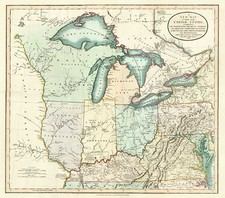 Mid-Atlantic, South, Midwest and Canada Map By John Cary