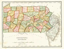 Mid-Atlantic Map By Thomas Gamaliel Bradford