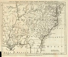Mid-Atlantic, South, Southeast and Midwest Map By London Magazine