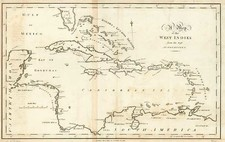 Southeast, Caribbean and Central America Map By John Stockdale