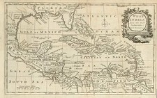 South, Southeast, Caribbean and Central America Map By Thomas Bowen