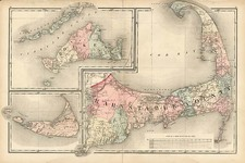 New England Map By Walling & Gray