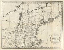 New England Map By John Russell