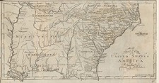 Mid-Atlantic, South and Southeast Map By Jedidiah Morse / Abraham Bradley