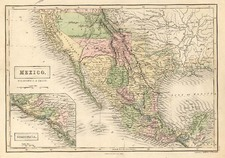 Texas, Southwest, Mexico and California Map By Adam & Charles Black