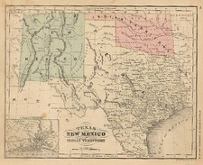 Texas, Plains and Southwest Map By Rand McNally & Company
