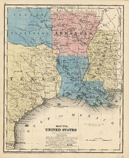 South, Texas and Plains Map By Daniel Burgess & Co.