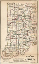 Midwest Map By General Land Office / Major & Knapp