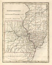 Midwest and Plains Map By Thomas Gamaliel Bradford