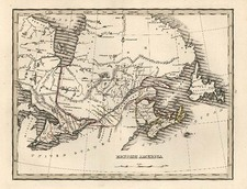 Midwest and Canada Map By Thomas Gamaliel Bradford