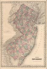 Mid-Atlantic Map By G.W.  & C.B. Colton
