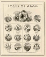 Curiosities Map By Alvin Jewett Johnson