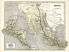 Southwest, Rocky Mountains, Central America and California Map By Sidney Morse  &  Samuel Breese