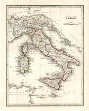 Europe and Italy Map By Thomas Gamaliel Bradford