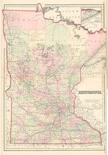 Midwest Map By G.W.  & C.B. Colton