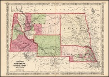 Plains and Rocky Mountains Map By Alvin Jewett Johnson