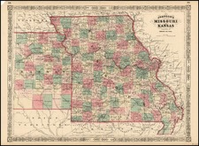 Midwest and Plains Map By Alvin Jewett Johnson
