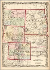 Plains and Rocky Mountains Map By Samuel Augustus Mitchell