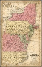 Mid-Atlantic and Southeast Map By Samuel Augustus Mitchell