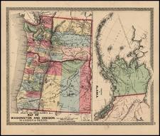 Alaska Map By Warner & Beers