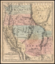 Plains, Southwest and Rocky Mountains Map By Daniel Burgess & Co.