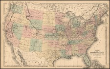 United States Map By Henry Francis Walling