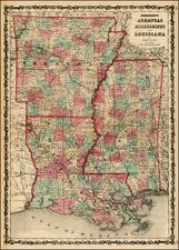 South Map By Benjamin P Ward / Alvin Jewett Johnson