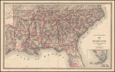 South and Southeast Map By Warner & Beers