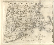 New England Map By George Gillet