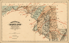 Mid-Atlantic Map By Walling & Gray