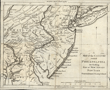 Mid-Atlantic Map By Scots Magazine