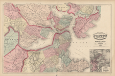 New England Map By O.W. Gray  &  Henry Francis Walling