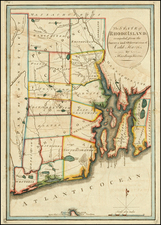 New England Map By Mathew Carey