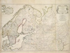 Europe, Russia, Baltic Countries and Scandinavia Map By Jean-Baptiste Bourguignon d'Anville