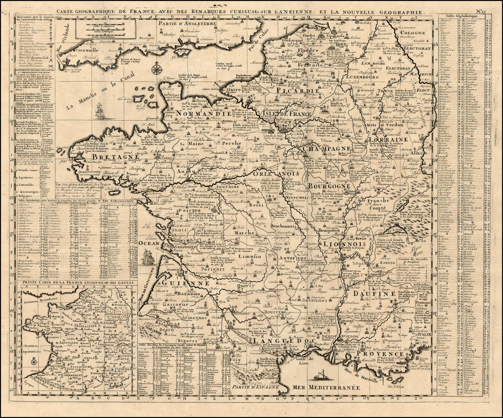 Carte Geographique De France, Avec Des Remarques Curieuses Sur L'Ancienne Et La Nouvelle ...