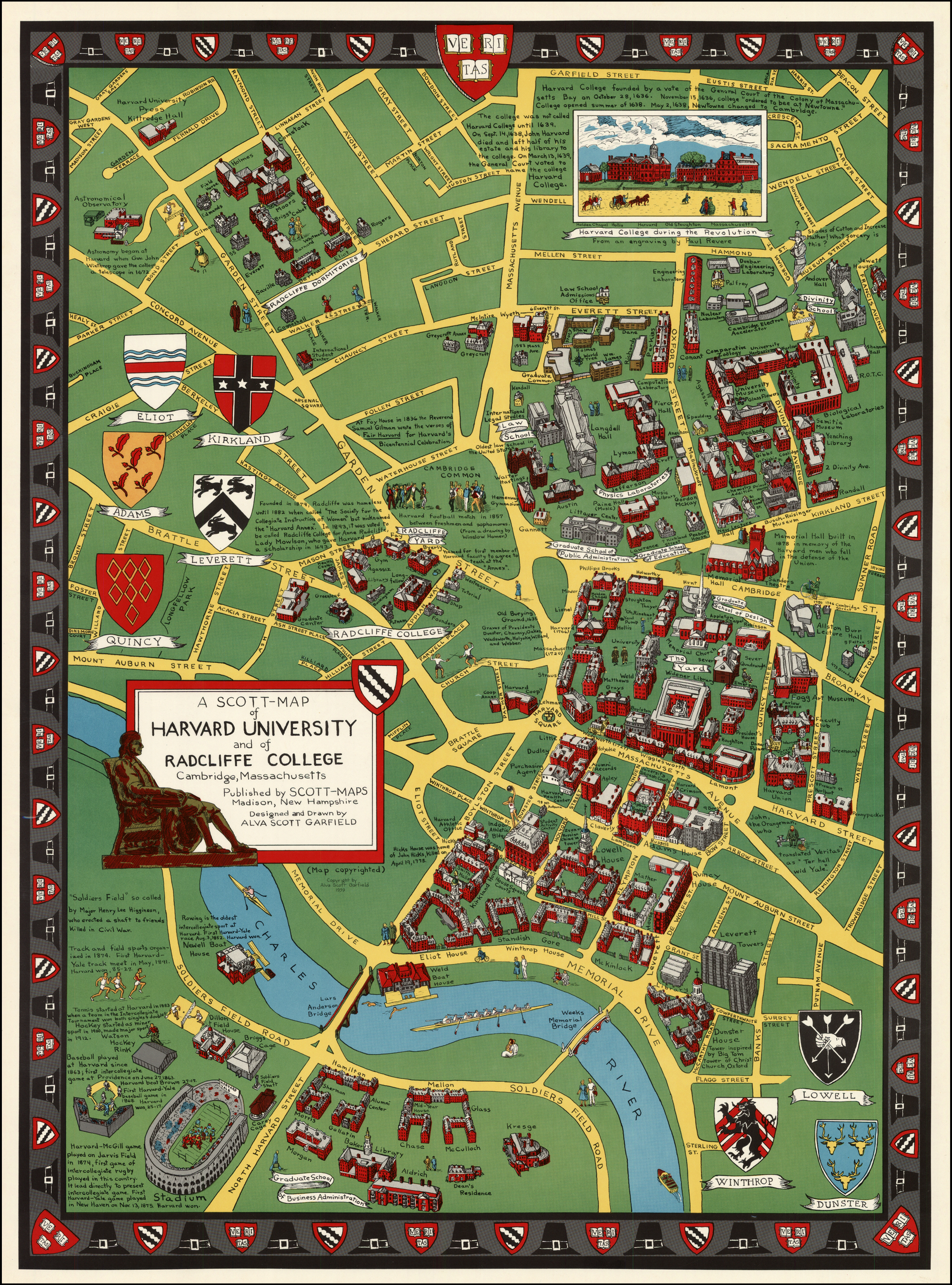 A Scott-Map of Harvard University and of Radcliffe College Cambridge ...