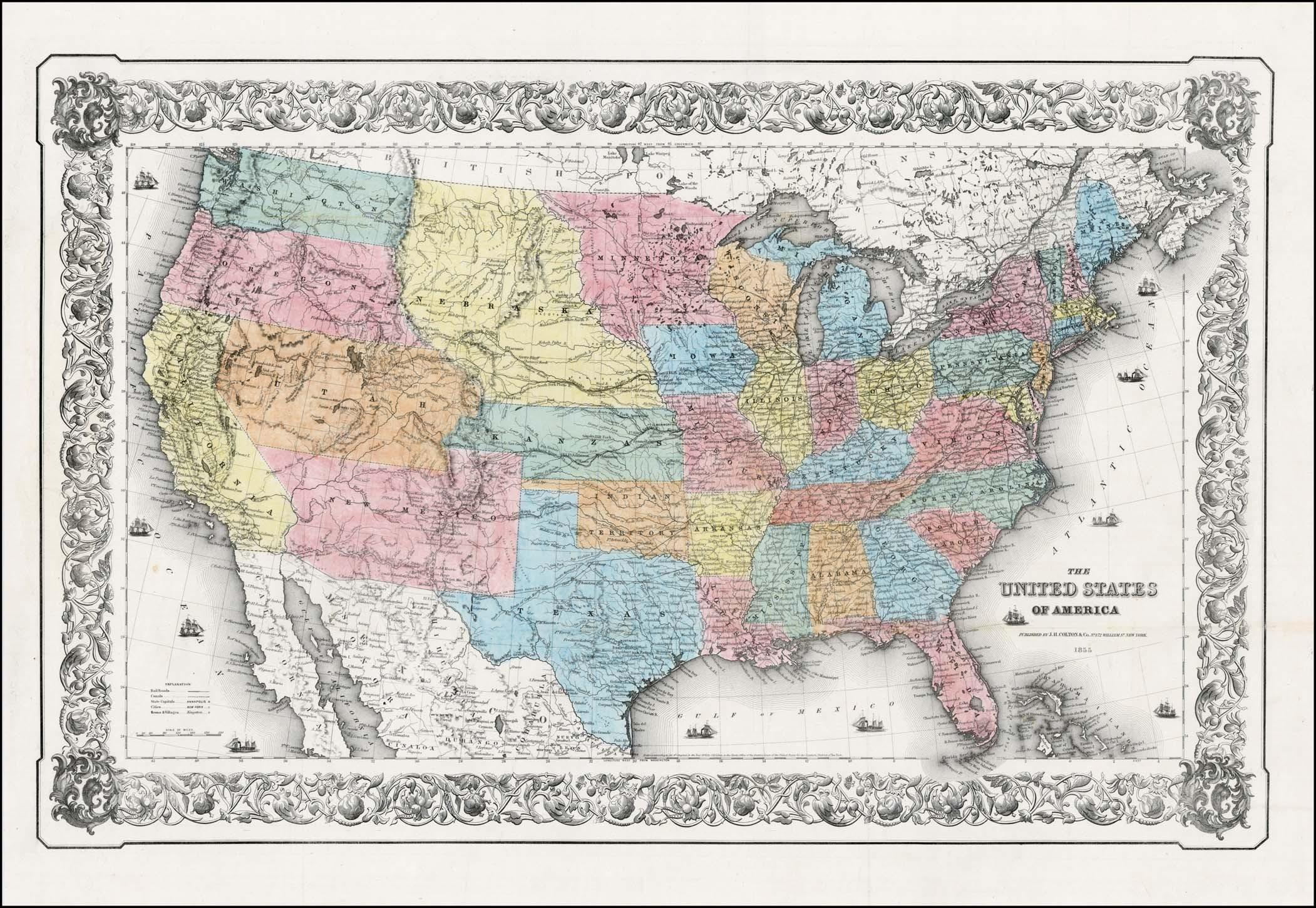 The United States of America. 1855 - Barry Lawrence Ruderman ... on