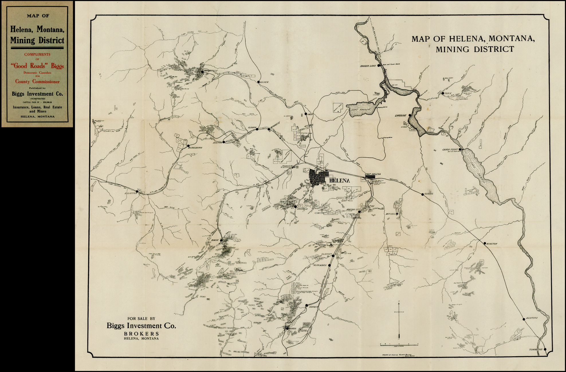 Map of Helena Montana, Mining District - Barry Lawrence ...