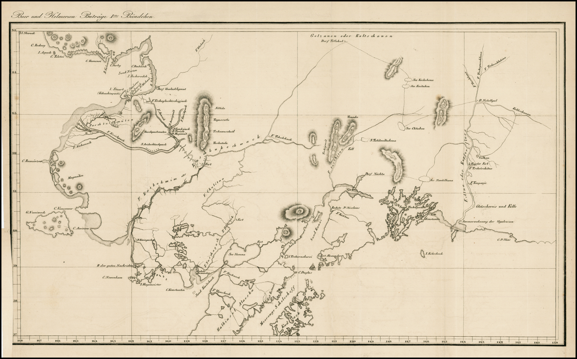 Unled Russian Map of Part of Alaska] - Barry Lawrence ... on map of portsmouth island, map of richmond island, map of atka island, map of jackson island, map of st. paul island, map of aleutian islands, map of pribilof islands, map of raspberry island, map of wrangel island, map of faial island, map of whale island, map of shelikof strait, map of arctic national wildlife refuge, map of bremerton island, map of seward peninsula, map of prince of wales, map of ketchikan island, map of wrangell island, map of door peninsula, map of sitkalidak island,