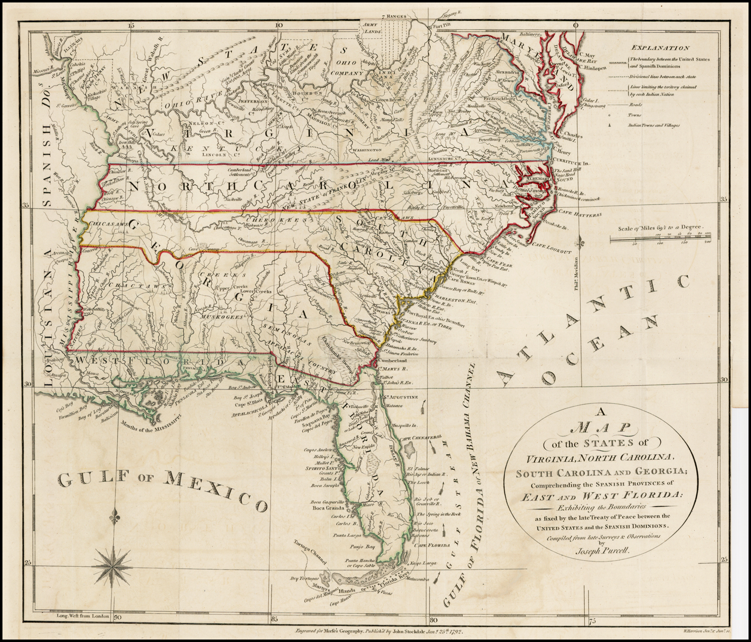 A Map of the States of Virginia, North Carolina, South ... United States Map Cl on miss united states, ma united states, se united states, rainbow united states, pa united states, ne united states,