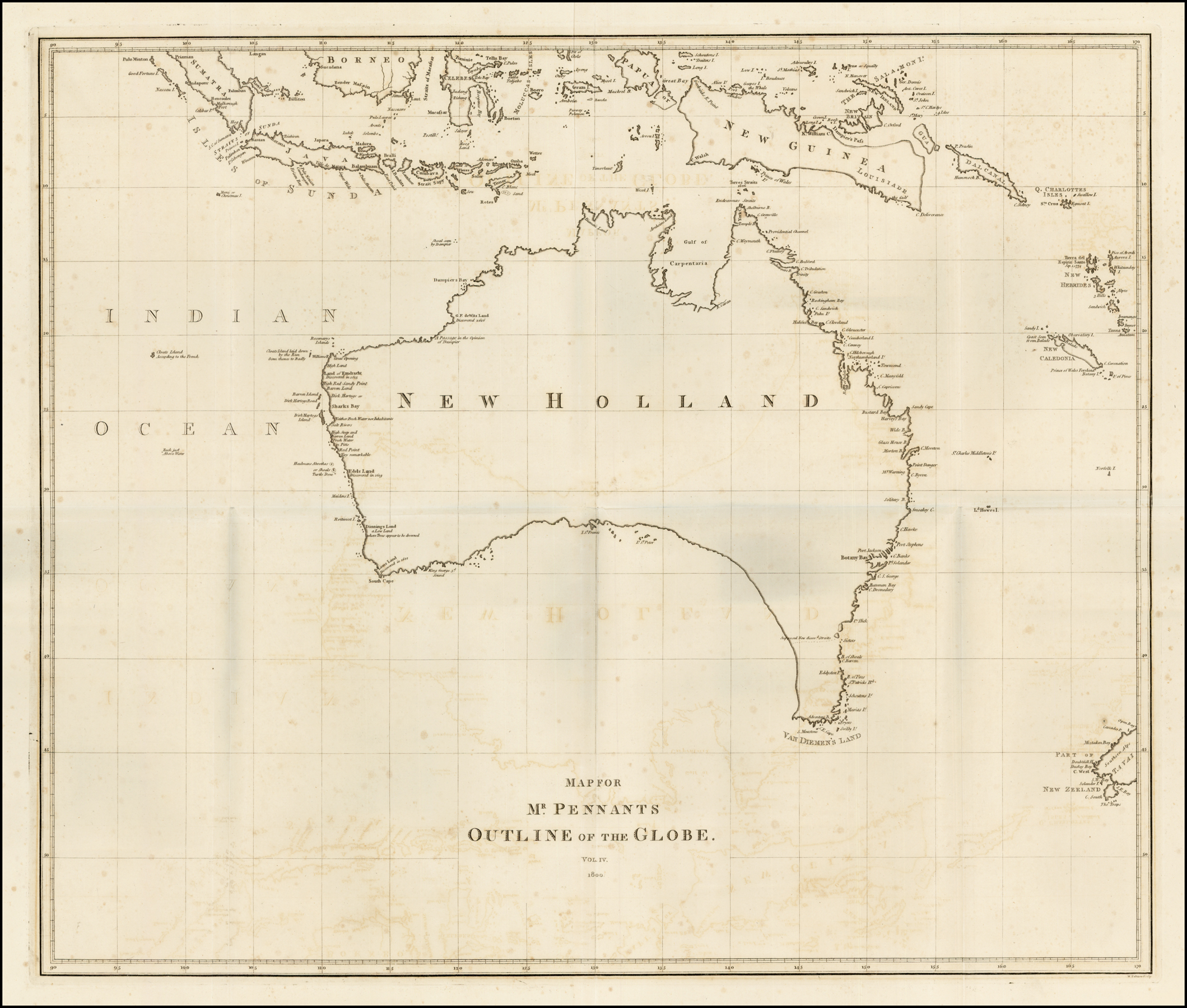Australia] Map For Mr. Pennants Outline of the Globe. Vol. IV ...