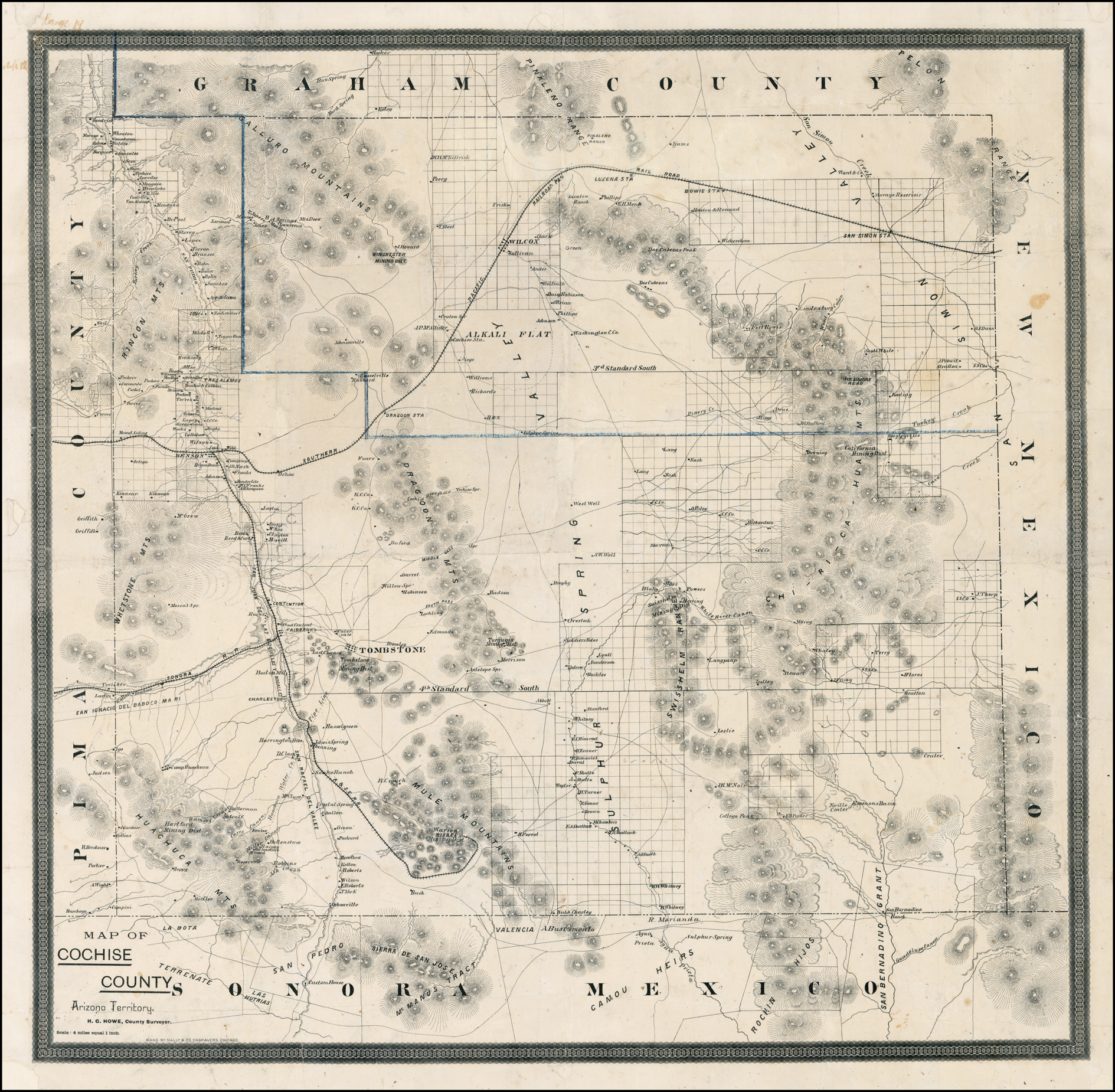 Map of Cochise County Arizona Territory - Barry Lawrence