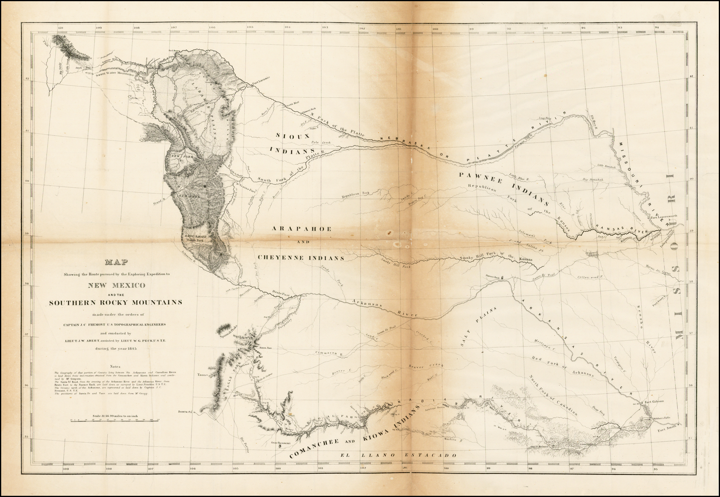 Map Showing the Route pursued by the Exploring Expedition to ...
