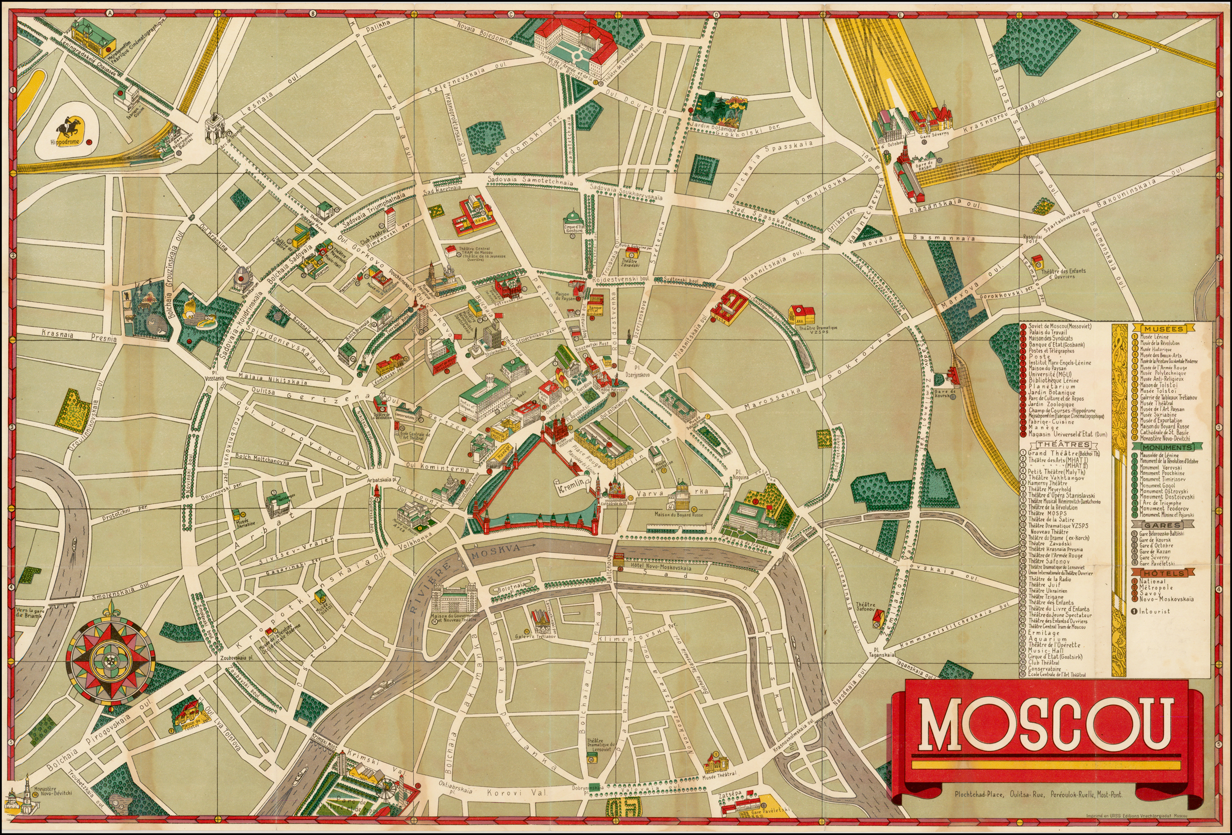Pictographic Map of Moscow] Moscou. - Barry Lawrence Ruderman ...