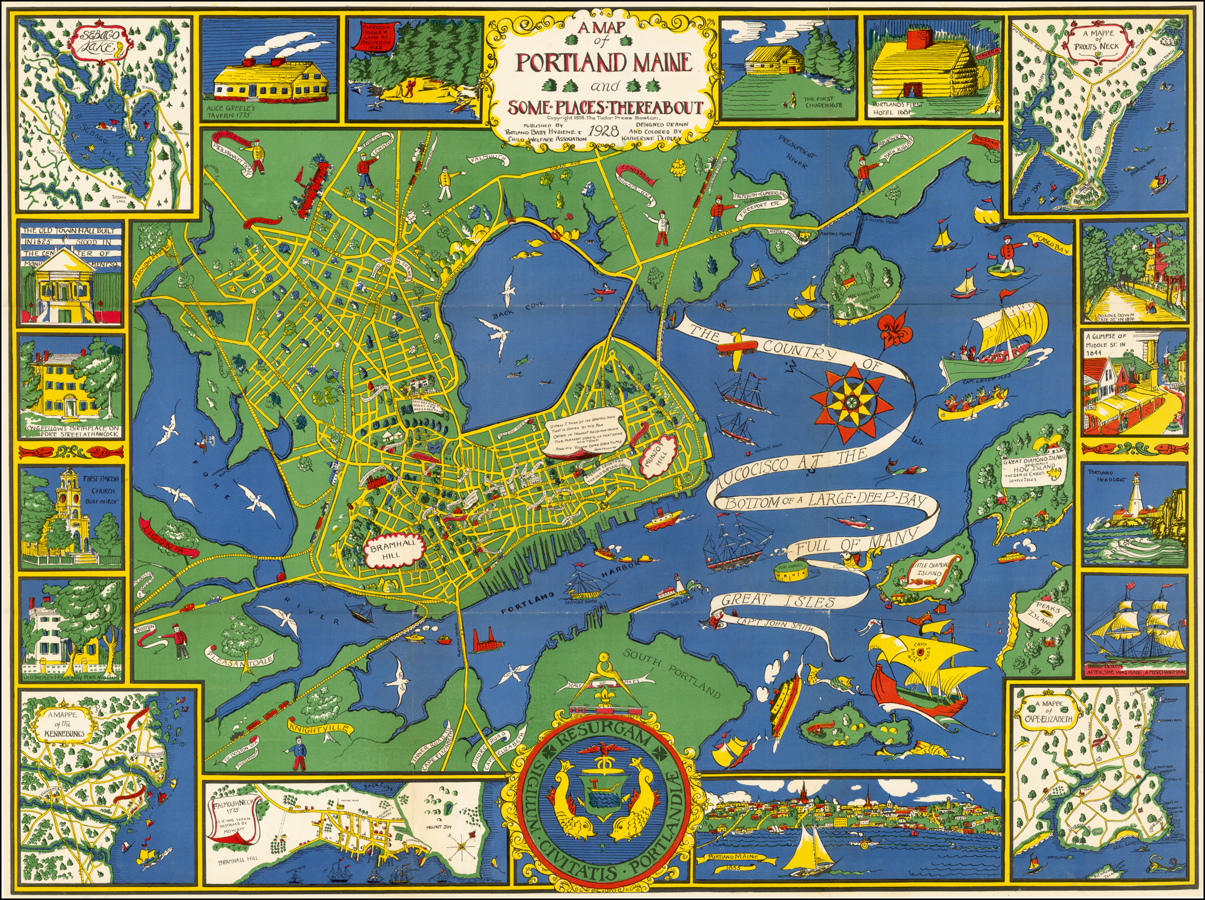 A Map of Portland, Maine and Some Places Thereabout