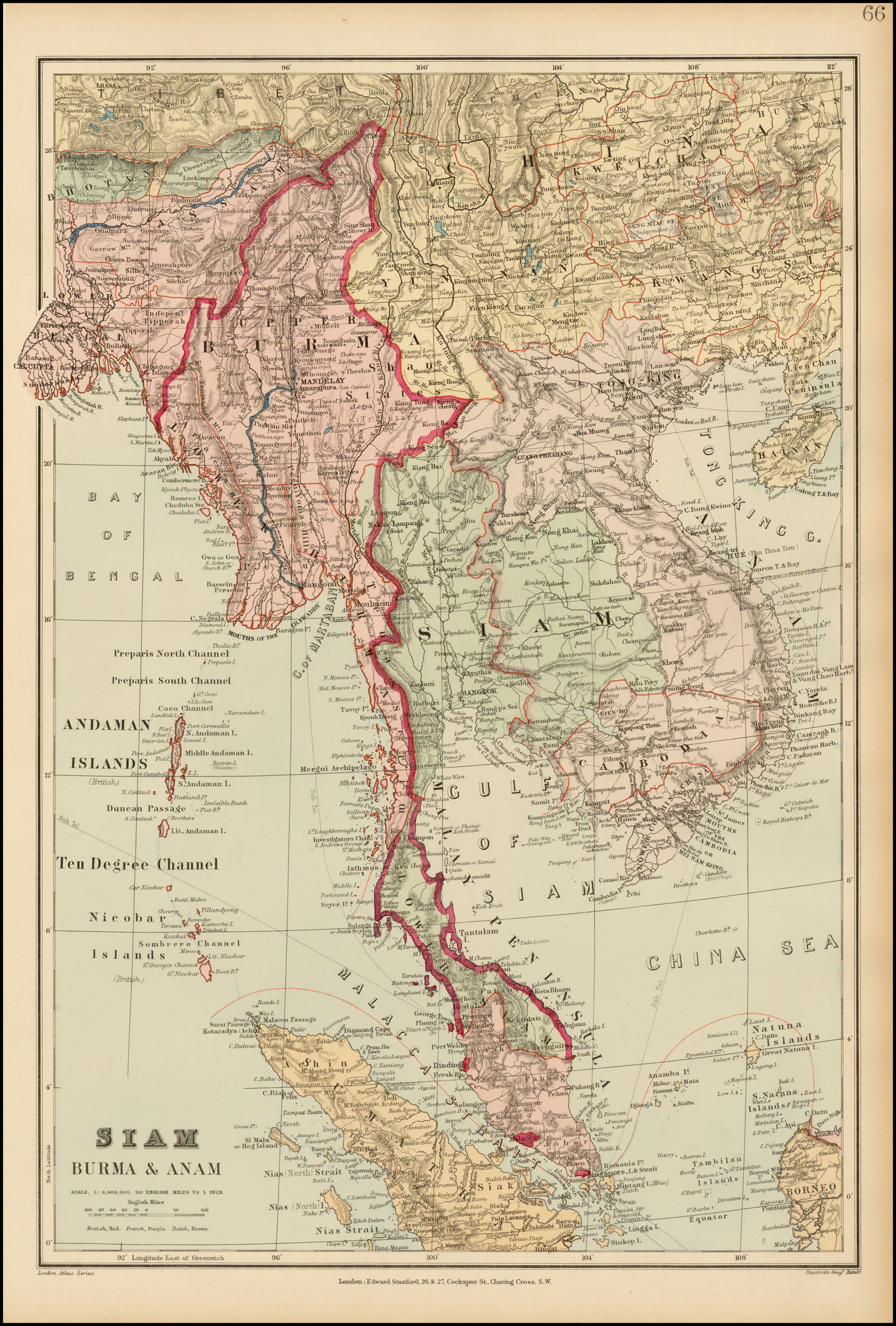Siam Burma & Anam - Barry Lawrence Ruderman Antique Maps Inc. on schneider map, jvc map, alba map, scott map, siam map, atlantic map,