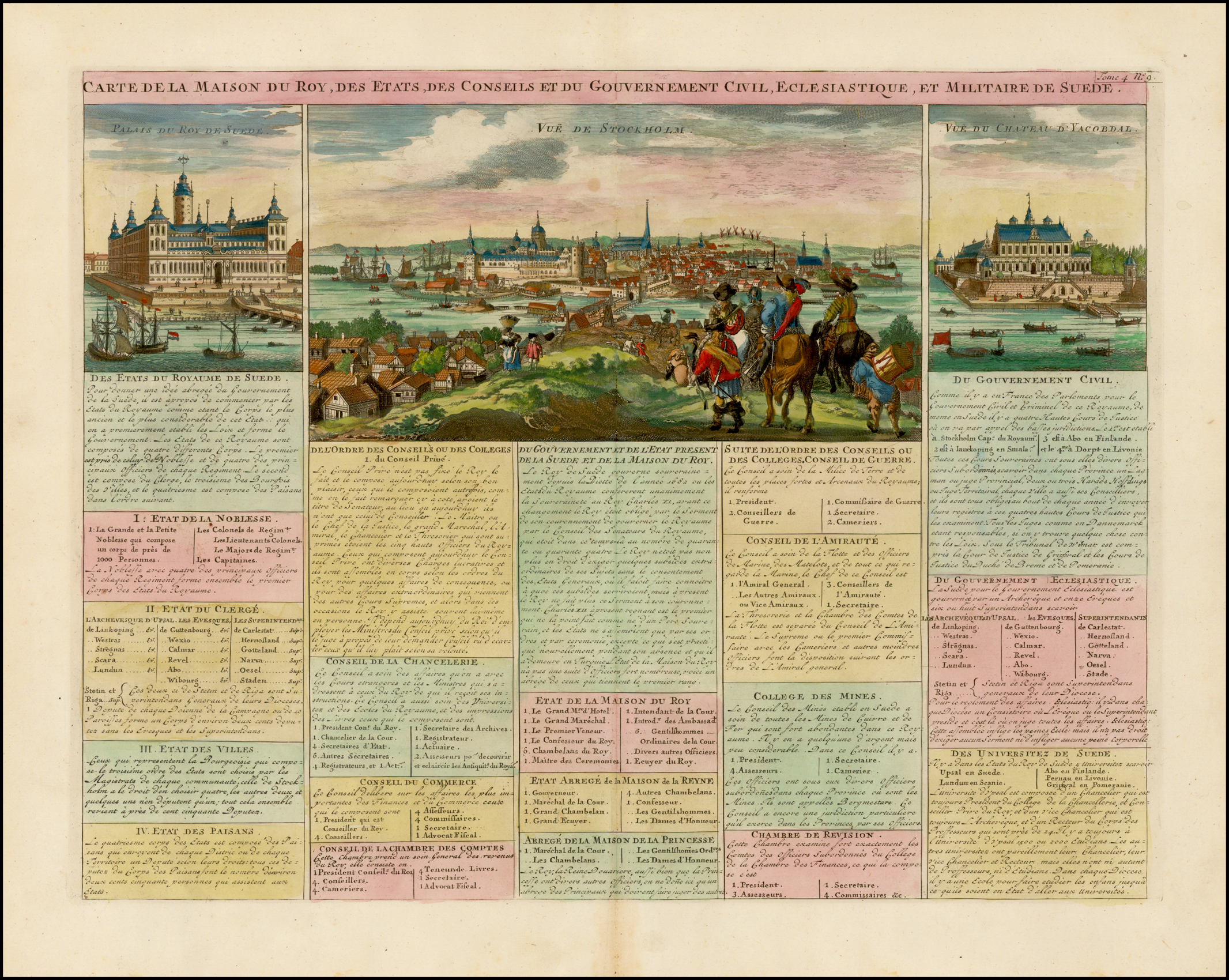 La Maison De La Suede vue de stockholm / palais du roy du suede / vue du chateau d