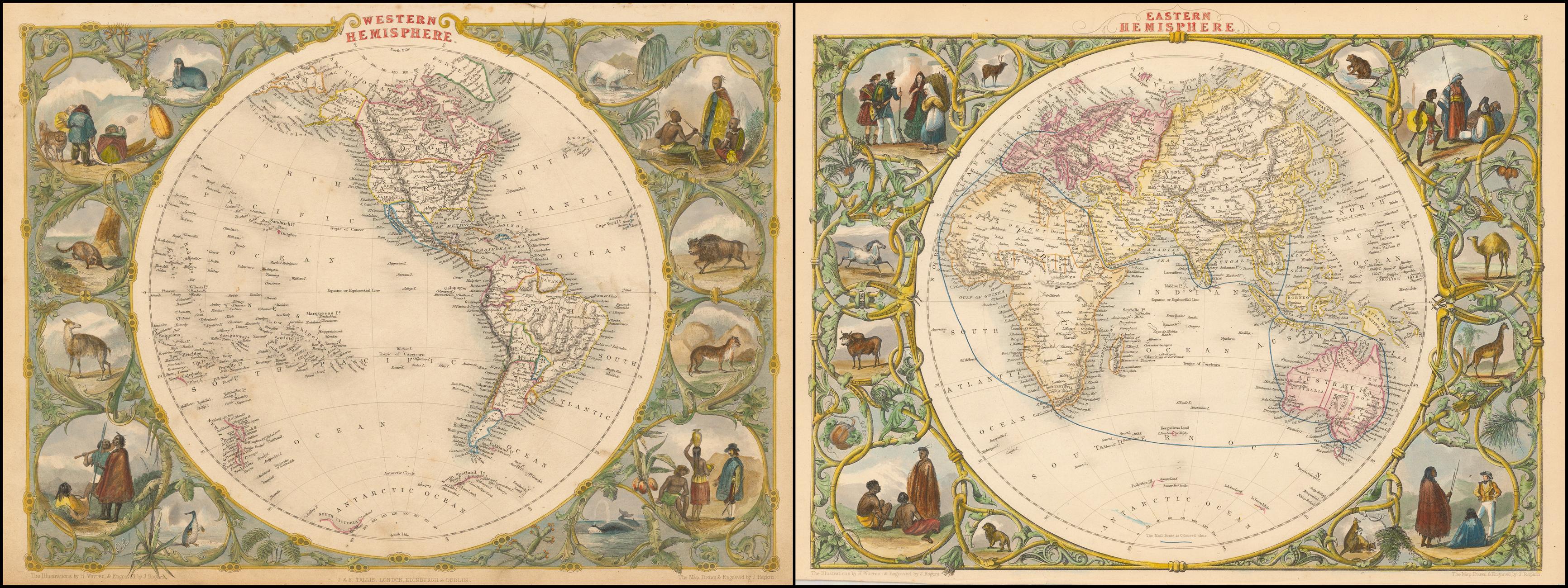 Western Hemisphere [and] Eastern Hemisphere - Barry Lawrence ...