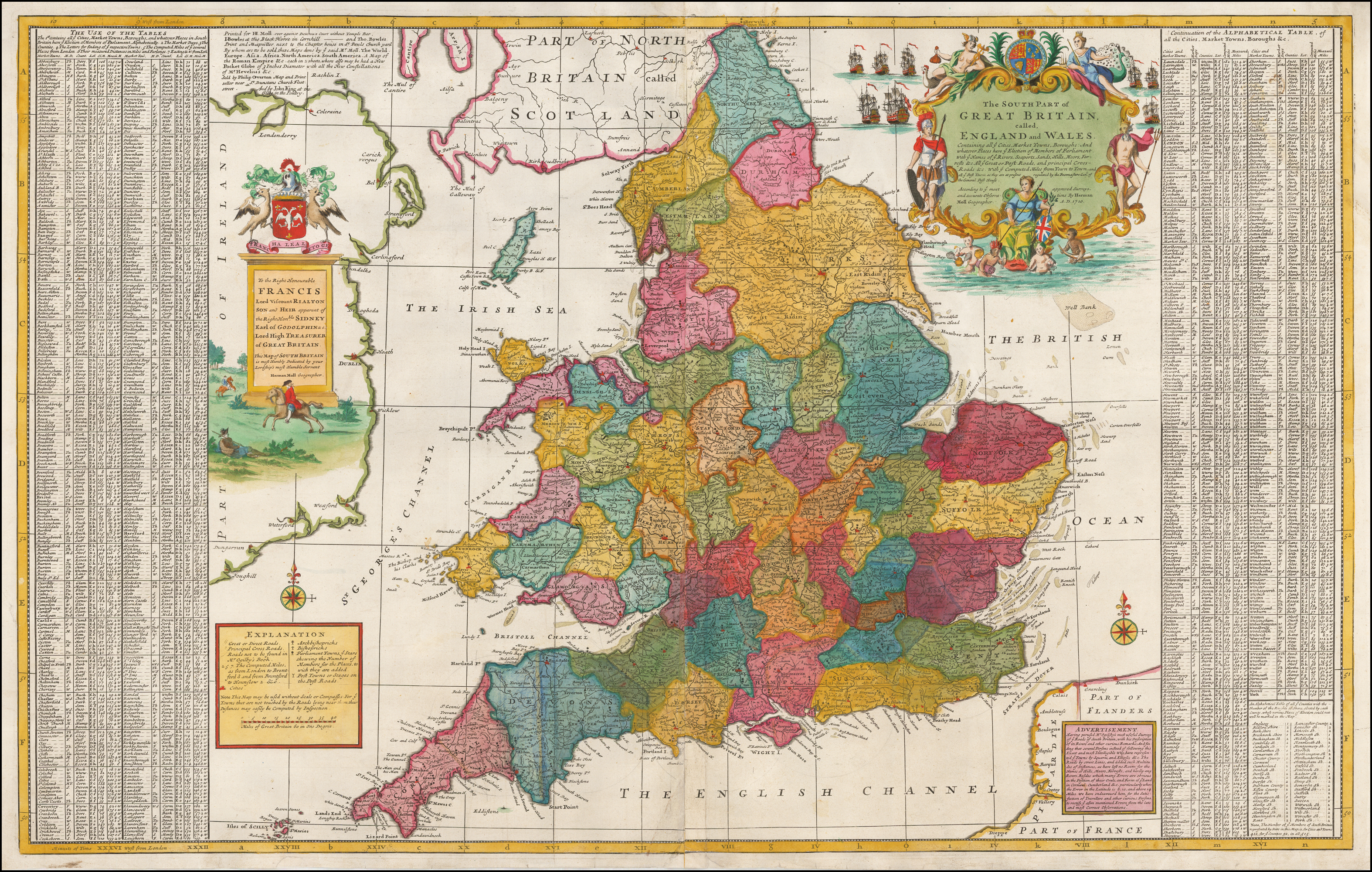 Map Of Southern England And Wales.The South Part Of Great Britain Called England And Wales